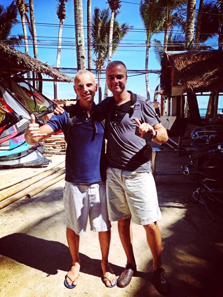 Belgian Bestfriends Ben and Piet during their annual windsurfing holiday.